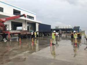 Construction of forklift truck rental at Wolong Hai Phong Vietnam 3