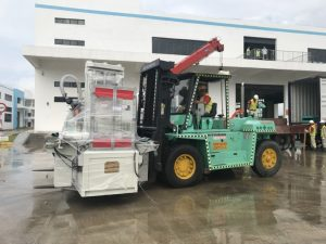 Construction of forklift truck rental at Wolong Hai Phong Vietnam 1